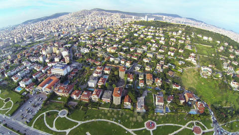 Luxury houses from above on a sunny day Footage
