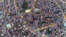 High altitude city scene over Maltepe, Turkey Footage