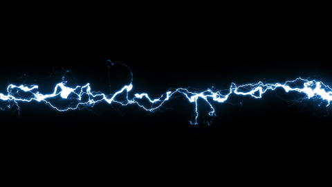 Beautiful Electric Arc moving across the Screen wi Animation