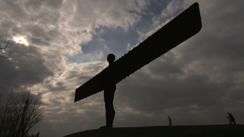 Angel Of The North Stock Video Footage