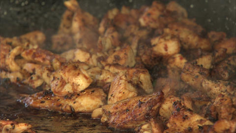 Chicken Frying stock footage