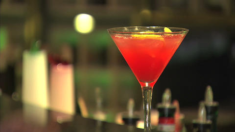 Cocktail Drink stock footage