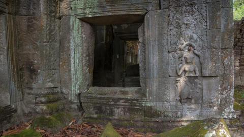 Preah Khan temple slider timelapse 4K Footage