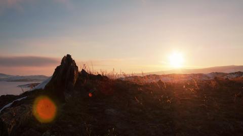 Winter sunrise timelapse 4K Footage