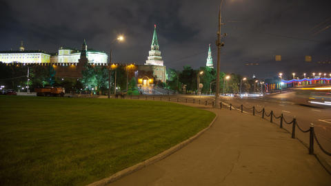 Borovitskaya place rotating timelapse 4K Footage