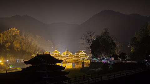 ChengYang village night timelapse 4K Footage