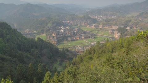 Chengyang village timelapse zoom 01 4K Footage
