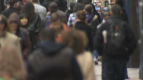 Crowds Shopping stock footage
