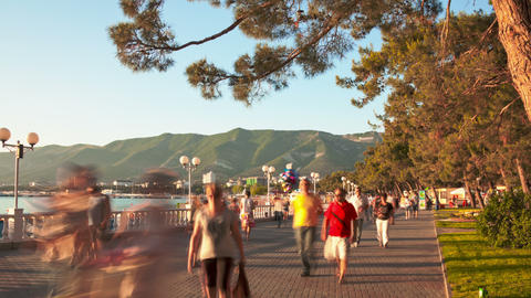 Gelendzhik city walk hyperlapse 4K Footage