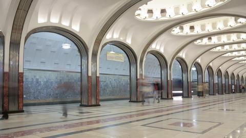 Subway station timelapse 4K Footage