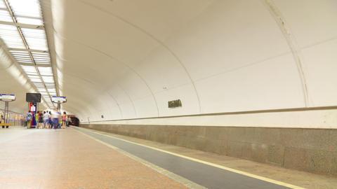 Subway timelapse 4K Footage