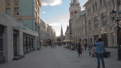 Nikolskaya street walk hyperlapse 4K Footage