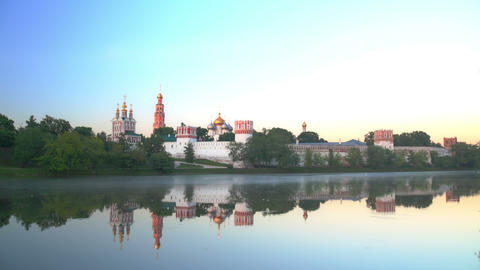 Novodevichy Convent sunrise time lapse 4K Footage