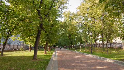 Walk on Pokrovka Boulevard hyperlapse 4K Footage