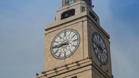Shanghai Customs House watch timelapse 4K Footage