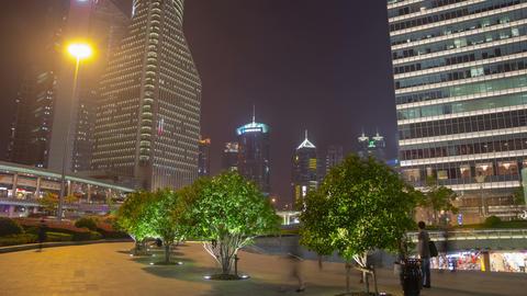 Pudong night walk hyperlapse 4K Footage