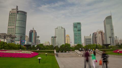 Shanghai park day hyperlapse 4K Footage