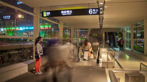 Subway entrance timelapse 4K Footage