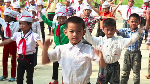 Vietnamese school in Tan Hoa village 6741 Footage
