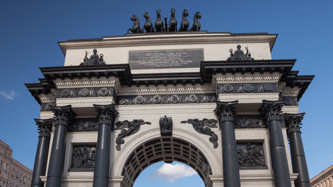 Triumphal Arch square hyperlapse 4K Footage