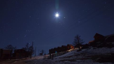 Winter night timelapse 4K Footage