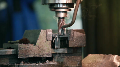 milling machine in action Footage