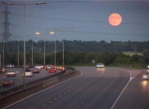 Pink Moon rising Footage