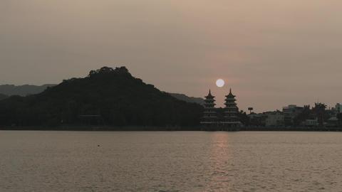 dragon and tiger pagoda Footage
