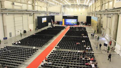 Presentation hall Footage