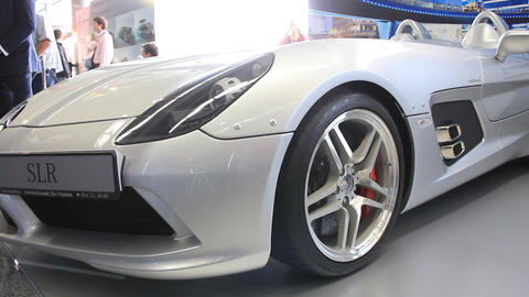 Motor show. Mercedes-Benz SLR McLaren Stirling Moss Footage