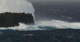 4K, Beautiful Closeup Of Crashing Waves stock footage