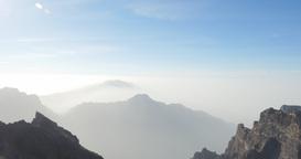 4k; Majestic view at Roque De Las Muchachos, La Pa Footage