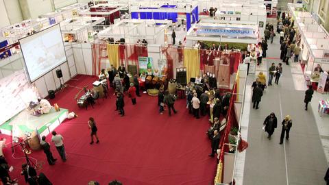 Exhibition hall Footage