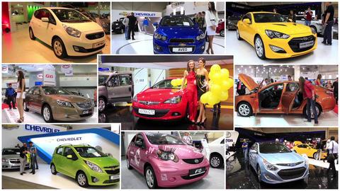 Automotive show montage Footage