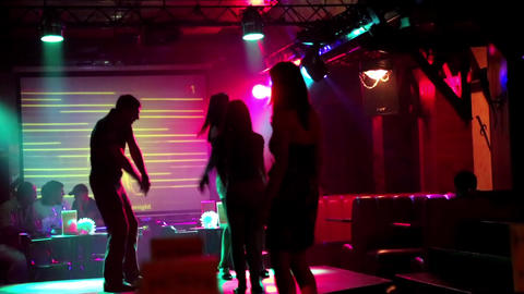 Dance party at a nightclub Live Action