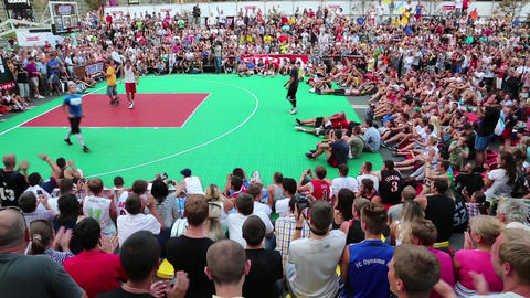 Streetball show Footage