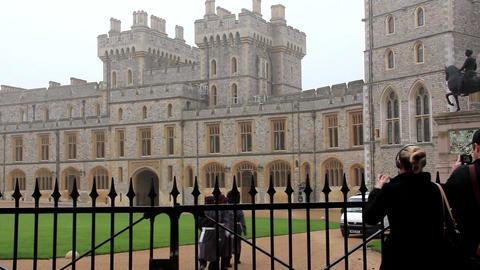 Guardsmans of the Windsor Castle, England Footage