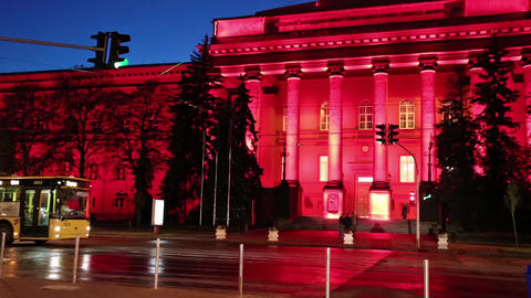 Red building of Kiev National University, Ukraine, Live Action