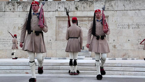 Greek National Guards stock footage