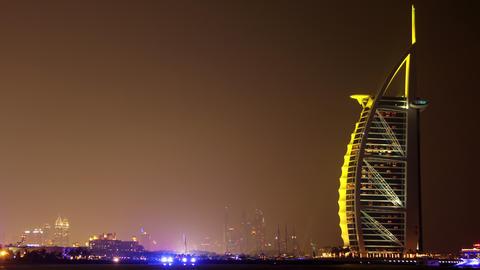 4K Burj Al Arab hotel in Dubai Footage