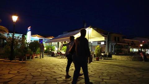 Summer restaurant in Nea Skioni, Greece Footage