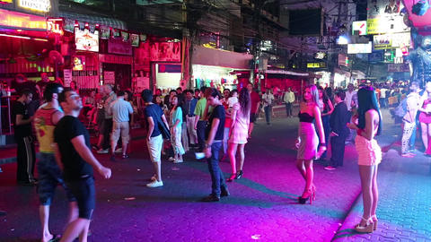 Walking Street stock footage