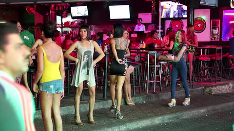 Red-light district in Pattaya, Thailand Footage