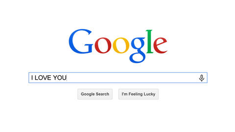 Google is most popular search engine in the world. Search for I LOVE YOU Live Action