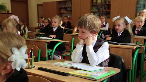 Schoolchilds in classroom Footage