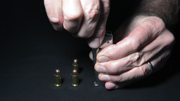 Loading Bullets stock footage