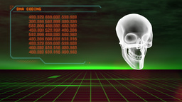 Hologram Of Skull stock footage