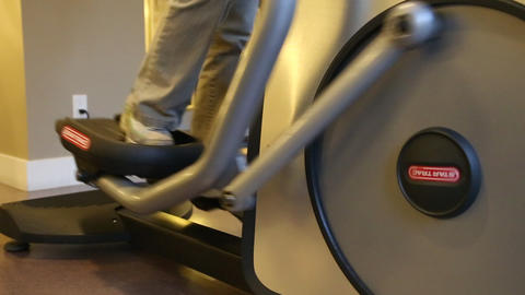 Close Up Woman Foot On Treadmill In The Gym stock footage