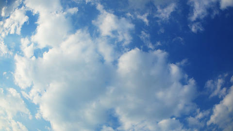 Beautiful Clear Clouds In Time-lapse (no Birds). W stock footage