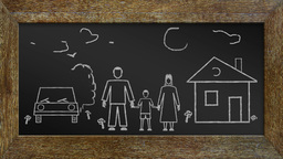 Concept Of Happy Family stock footage